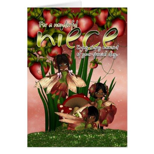 African American Birthday Card - Niece - Moonies C
