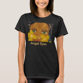 African American Black Art Angel Eyes Tshirt
