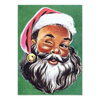 African American Black Santa Claus Christmas 13 Cm X 18 Cm Invitation Card