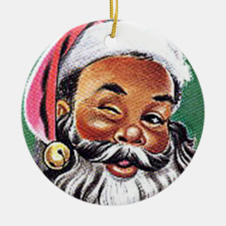 African American Black Santa Claus Christmas Christmas Ornament