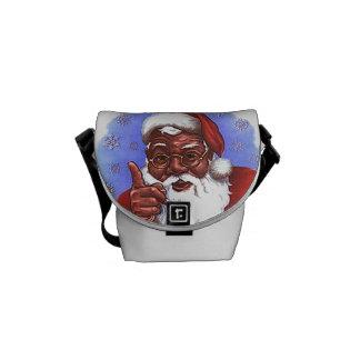African American Black Santa Claus Christmas Commuter Bag
