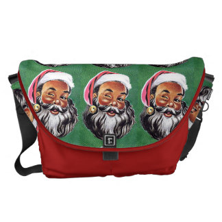 African American Black Santa Claus Christmas Courier Bags