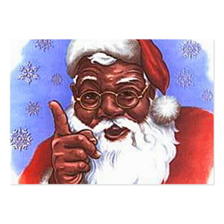 African American Black Santa Claus Christmas Pack Of Chubby Business Cards