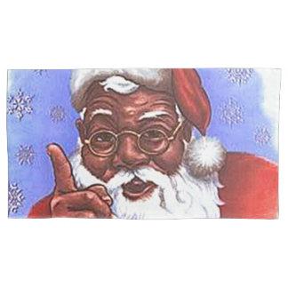 African American Black Santa Claus Christmas Pillowcase