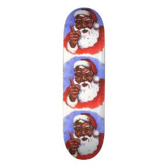 African American Black Santa Claus Christmas Skate Board Deck