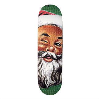 African American Black Santa Claus Christmas Skate Boards