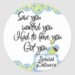 African American Boy Special Delivery Cards Sticker