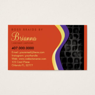 African American Braider Braids Business Card