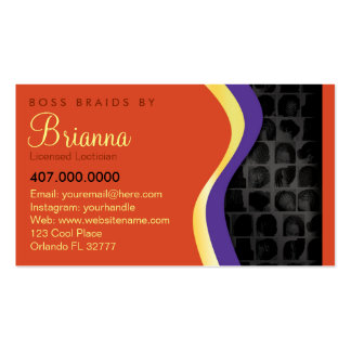 African American Braider Braids Pack Of Standard Business Cards