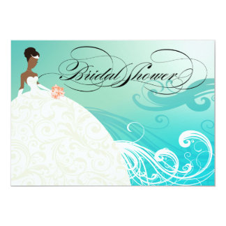 AFRICAN AMERICAN BRIDE ~ Bridal Shower Card