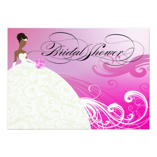 AFRICAN AMERICAN BRIDE Bridal Shower Announcement