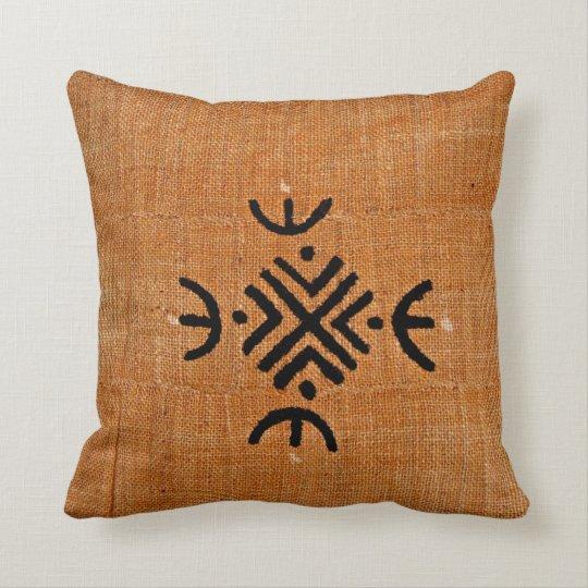 African American brown black mud cloth pattern Throw