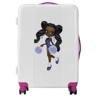 African American Cheerleader Girl Medium Luggage