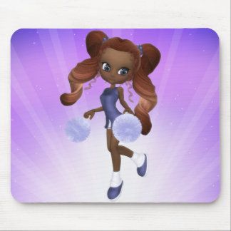 African American Cheerleader Mousepad