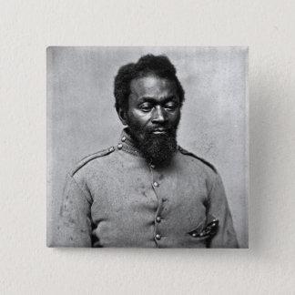 African American Civil War Soldier, 1861 15 Cm Square Badge