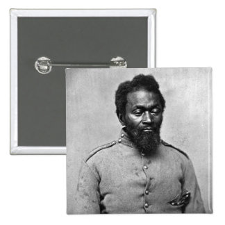 African American Civil War Soldier, 1861 15 Cm Square Badge