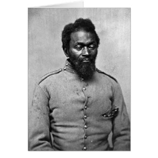 African American Civil War Soldier, 1861 Card