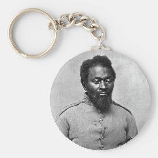 African American Civil War Soldier, 1861 Basic Round Button Key Ring