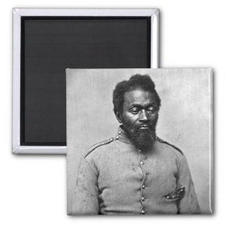 African American Civil War Soldier, 1861 Square Magnet