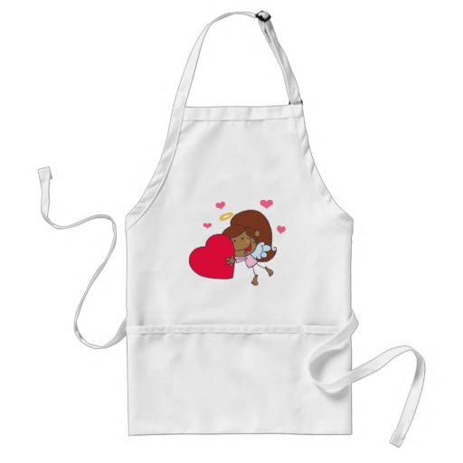 African American Cupid Girl Aprons