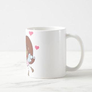 African American Cupid Girl Mugs