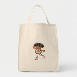 African American Dancing Girl Canvas Bags