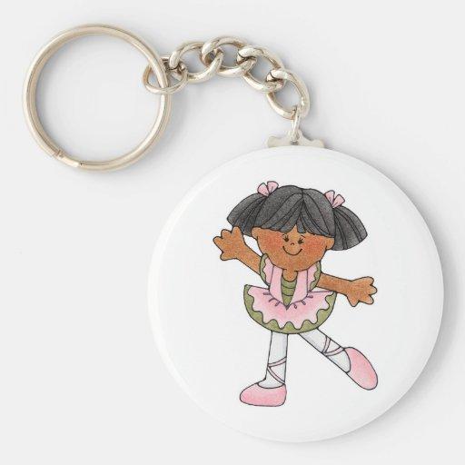 African American Dancing Girl Keychains