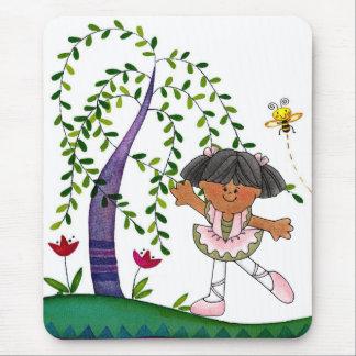 African American Dancing Girl Mouse Pad