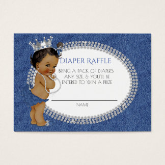 African American Denim & Diamonds Diaper Raffle Business Card