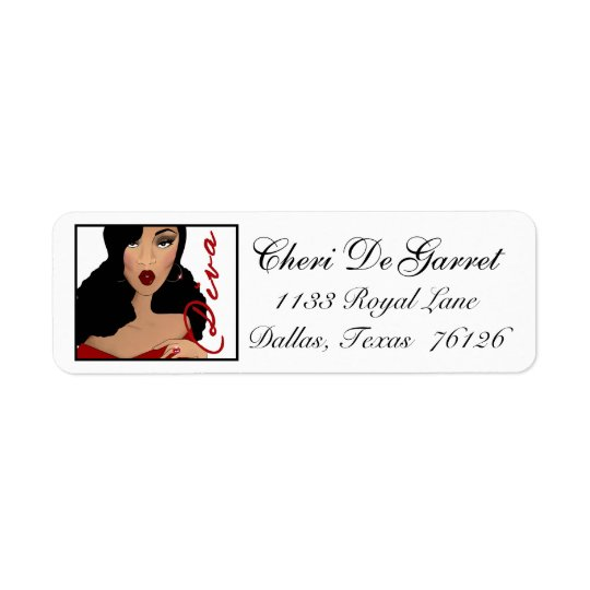 African American Diva Address Labels