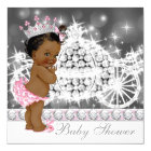 African American Ethnic Princess Baby Shower Card