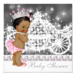 African American Ethnic Princess Girl Baby Shower 13 Cm X 13 Cm Square Invitation Card