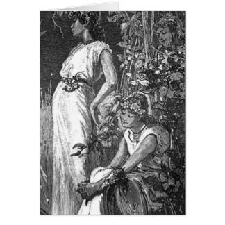 African American Fairies (Bridal Shower) Greeting Cards