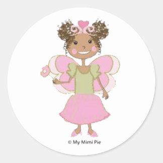 African American Fairy Princess Sticker