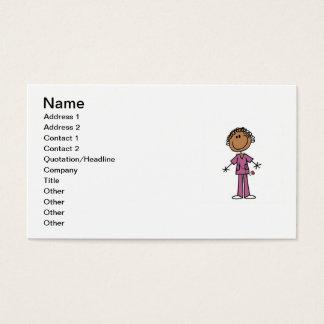 African American Female Stick Figure Nurse