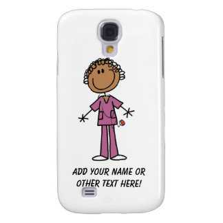 African American Female Stick Figure Nurse Samsung Galaxy S4 Cover
