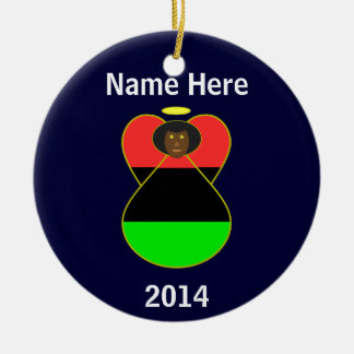 African American Flag Angel Christmas Ornament