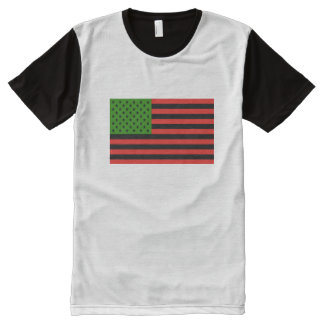 African American Flag - Red Black and Green All-Over Print T-Shirt