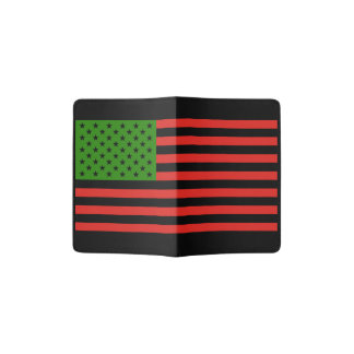 African American Flag - Red Black and Green Passport Holder