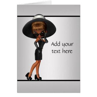 African American Fun Diva Greeting Card
