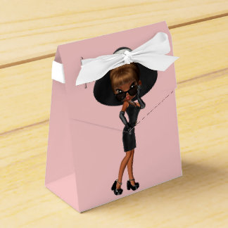 African American Fun Favorite Diva Birthday Party Favour Box