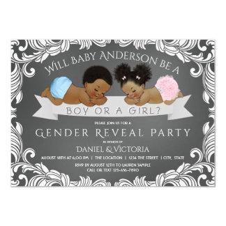 African American Gender Reveal Shower Invitations