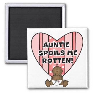 African American Girl Auntie Spoils Me Tshirts Fridge Magnet