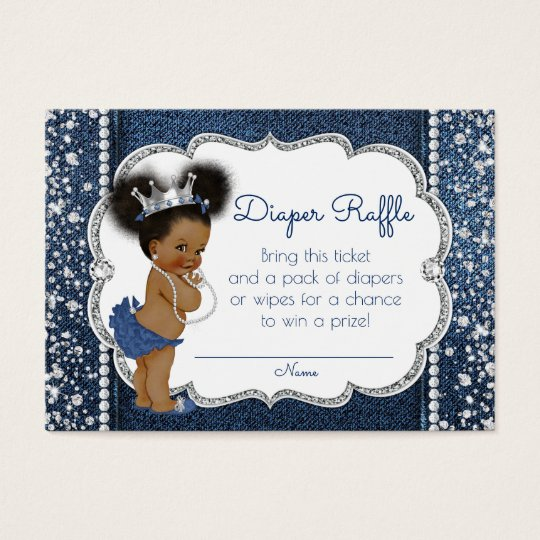 African American Girl Diaper Raffle Tickets