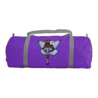 African American Girl Fairy Purple Gym Bag Gym Duffel Bag