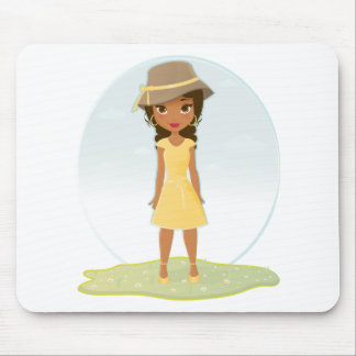 African American Girl Mousepads