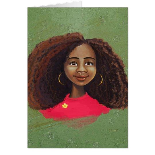 AFrican american girl portrait Card