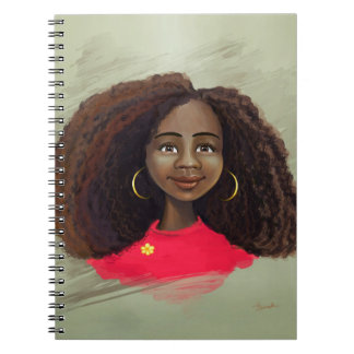 African American girl portrait Notebook