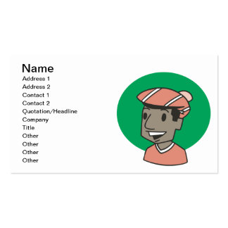 African American Golfer Pack Of Standard Business Cards