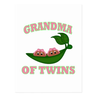 African American Grandma to Twins Postcard